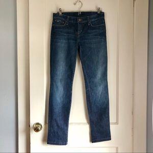 Joe's Jeans Cigarette Fit Dark Wash Skinny Jeans